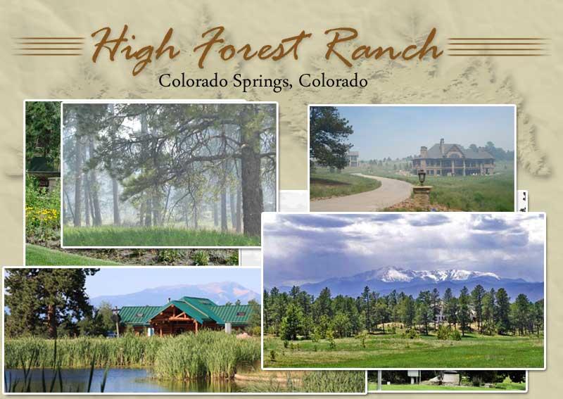 High Forest Ranch Colorado Spring Custom Homesites School